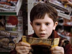 Freddie Highmore in Charlie and the Chocolate Factory.