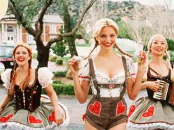 Drew Barrymore, Cameron Diaz and Lucy Liu in Charlies Angels.