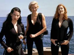 Lucy Liu, Cameron Diaz and Drew Barrymore in Charlies Angels.