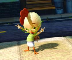 Zach Braff provides the voice of Chicken Little.