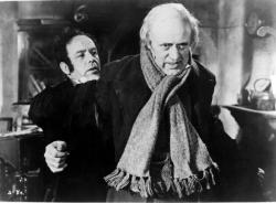 Mervyn Johns and Alastair Sim in A Christmas Carol.