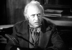 Alastair Sim as Scrooge in A Christmas Carol.