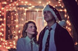 Beverly D'Angelo and Chevy Chase in Christmas Vacation.