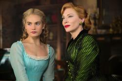 Lily James and Cate Blanchett in Cinderella
