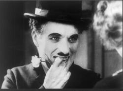 Charlie Chaplin in City Lights.