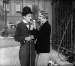 Charlie Chaplin and Virginia Cherrill in City Lights.