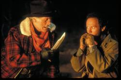Jack Palance and Billy Crystal in City Slickers.