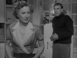 Barbara Stanwyck and Paul Douglas in Clash By Night.