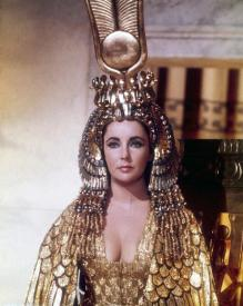 Elizabeth Taylor as the Queen of the Nile.