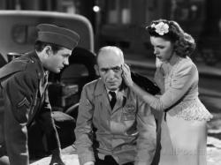 Robert Walker, James Gleason, and Judy Garland in The Clock.