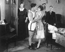 Buster Keaton, Anne Cornwall and Snitz Edwards in College.