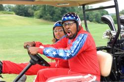Raven-Symone and Martin Lawrence in College Road Trip.