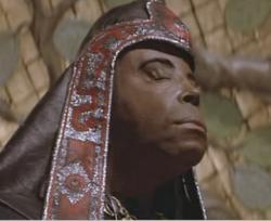James Earl Jones as Thulsa Doom morphing into a snake in Conan the Barbarian.