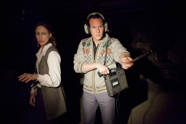 Vera Farmiga and Patrick WIlson in The Conjuring