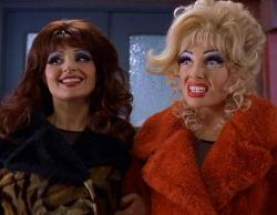 Nia Vardalos and Toni Collette in Connie and Carla.