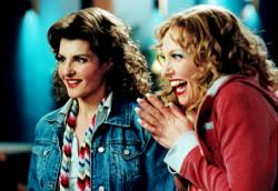 Nia Vardalos and Toni Collette in Connie and Carla