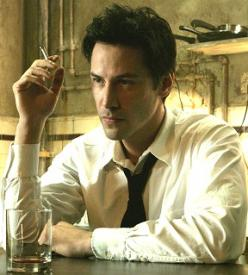Keanu Reeves in Constantine.