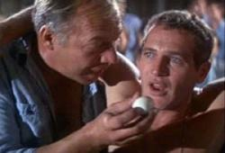 George Kennedy and Paul Newman in Cool Hand Luke.