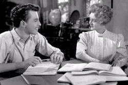 John Dall and Bette Davis in The Corn is Green.