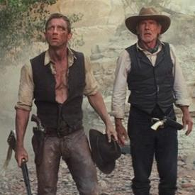 Daniel Craig and Harrison Ford in Cowboys & Aliens