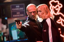 Jason Statham and Amy Smart in Crank.