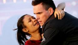 Thandie Newton and Matt Dillon in Crash.