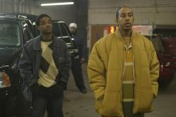 Larenz Tate and Ludacris in Crash.