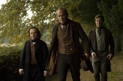 Toby Jones, Paul Bettany and Benedict Cumberbatch in Creation.