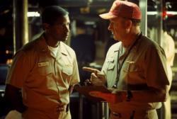 Denzel Washington and Gene Hackman in Crimson Tide.