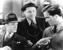 James Cagney, Frank McHugh and Eric Linden in The Crowd Roars