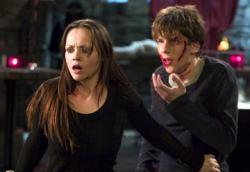 Christina Ricci and Jesse Eisenberg in Cursed.