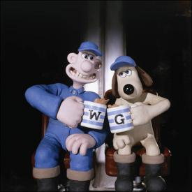 Wallace and Gromit in Wallace and Gromit: The Curse of the Were-Rabbit.