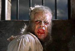 Oliver Reed as the werewolf in The Curse of the Werewolf.