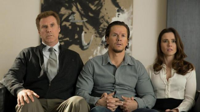Will Ferrell, Mark Wahlberg, and Linda Cardellini in Daddy's Home.