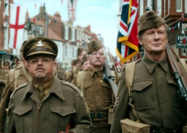 Toby Jones and Bill Nighy in Dad's Army.