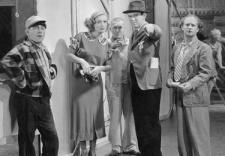 Joan Crawford and Ted Healy with Moe, Curly and Larry.