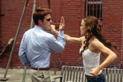 Ben Affleck and Jennifer Garner in Daredevil.