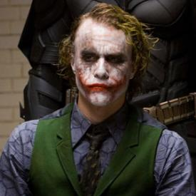 Heath Ledger in Dark Knight.