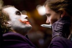 Heath Ledger and Maggie Gyllenhaal in Dark Knight.
