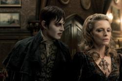 Johnny Depp and Michelle Pfeiffer in Dark Shadows.