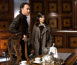 Tom Hanks and Audrey Tautou in The Da Vinci Code.