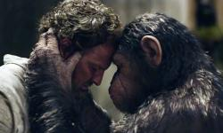 Jason Clarke and Andy Serkis in Dawn of the Planet of the Apes.
