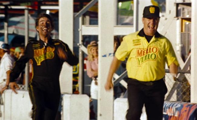 Tom Cruise and Robert Duvall in Days of Thunder.