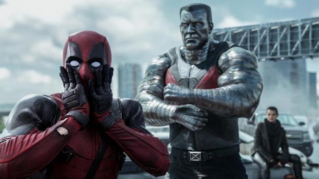Ryan Reynolds in Deadpool.