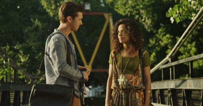 Justin Dobies and Tessa Thompson in Dear White People