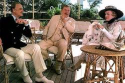 David Niven, Peter Ustinov and Bette Davis in Death on the Nile.