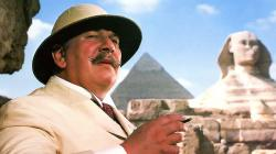 Peter Ustinov as Hercules Poirot in Agatha Christie's Death on the Nile.