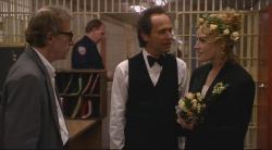 Woody Allen, Billy Crystal and Elizabeth Shue in Deconstructing Harry.