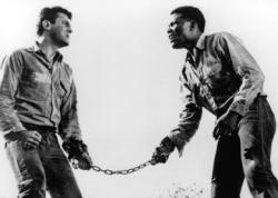 Tony Curtis and Sidney Poitier in The Defiant Ones.