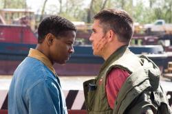 Denzel Washington and James Caviezel in Deja Vu.
